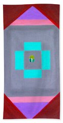 Beach Towel featuring the painting The Seed by Lorna Maza