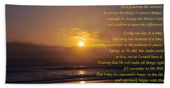 The Serenity Prayer Beach Sheet by Tikvah's Hope