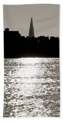 The Shard From Canary Wharf Beach Towel by Jasna Buncic