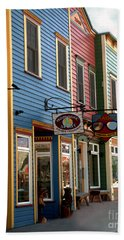 The Shops In Crested Butte Beach Sheet by RC DeWinter