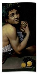 The Sick Bacchus, 1591  Beach Towel