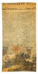 The Signing Of The United States Declaration Of Independence Beach Sheet