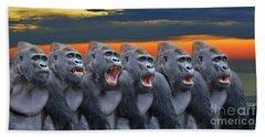 The Singing Gorillas Beach Sheet