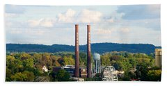 The Smoke Stacks Stand Resolute  Beach Towel