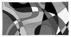 The Soloist - Black And White Beach Sheet
