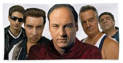 The Sopranos  Artwork 2 Beach Towel by Sheraz A