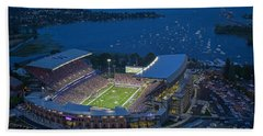 Husky Stadium And The Lake Beach Towel