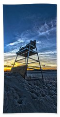 The Stand At Sunset Beach Towel