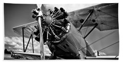 The Stearman Biplane Beach Towel