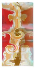 Beach Towel featuring the digital art The Storm Tree by Kevin McLaughlin