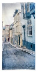 The Streets Of Old Quebec City Beach Towel