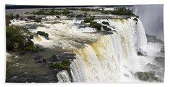 The Stunning Falls Of Iguacu Brazil Side Beach Sheet