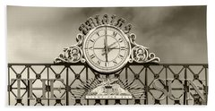 The Sun Orioles Clock - Sepia Beach Towel