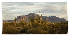 The Superstition Mountains Beach Towel