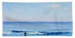 The Surf Fisherman Beach Sheet by Jan Matson