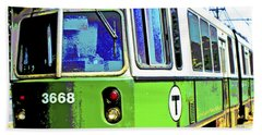 The T Trolley Car Boston Massachusetts 1990 Poster Beach Towel