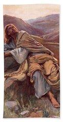 The Temptation Of Christ Beach Towel