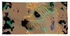 The Terrier Beach Towel