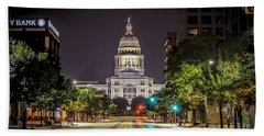 The Texas Capitol Building Beach Sheet