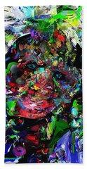 Beach Towel featuring the digital art The Thinker by David Lane