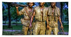 The Three Soldiers Facing The Wall Beach Towel