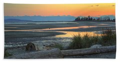 The Tide Is Low Beach Towel by Randy Hall