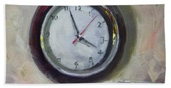 Clock Paintings Beach Towels