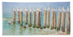 The Town Meeting Beach Towel by Mary Ellen Mueller Legault