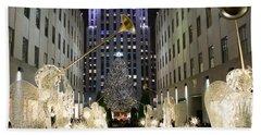 The Tree At Rockefeller Center Beach Towel