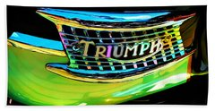 The Triumph Petrol Tank Beach Towel