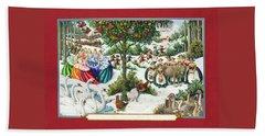 The Twelve Days Of Christmas Beach Towel