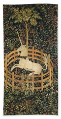The Unicorn In Captivity Beach Towel