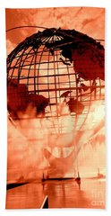 The Unisphere And Fountains Beach Towel by Ed Weidman