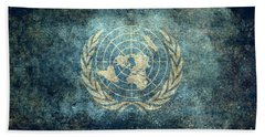 The United Nations Flag  Vintage Version Beach Towel