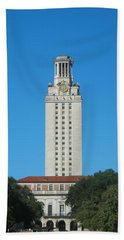 The University Of Texas Tower Beach Towel