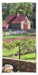 The Vineyard Barn Beach Towel by Gordon Elwell