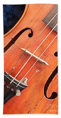 The Violin And The Memory Of Music In New Orleans Louisiana Beach Sheet by Michael Hoard