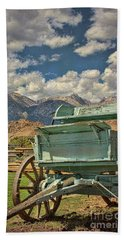 Beach Towel featuring the photograph The Wagon by Peggy Hughes