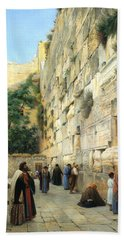 The Wailing Wall Jerusalem Beach Sheet