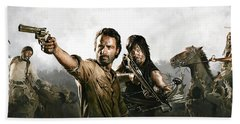 The Walking Dead Artwork 1 Beach Towel by Sheraz A