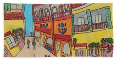 The Walled City Beach Sheet by Artists With Autism Inc