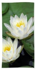 Beach Sheet featuring the photograph The Water Lilies Collection - 12 by Pamela Critchlow