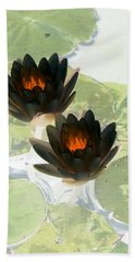 Beach Sheet featuring the photograph The Water Lilies Collection - Photopower 1040 by Pamela Critchlow