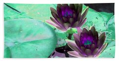 Beach Sheet featuring the photograph The Water Lilies Collection - Photopower 1118 by Pamela Critchlow