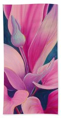 Beach Towel featuring the painting The Way You Look Tonight by Sandi Whetzel