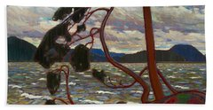 Beach Towel featuring the painting The West Wind by Tom Thomson