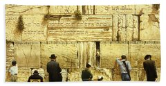 The Western Wall  Jerusalem Beach Towel by Graham Braddock