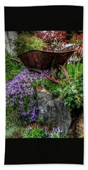 Beach Towel featuring the photograph The Whimsical Wheelbarrow by Thom Zehrfeld