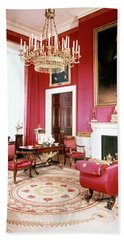The White House Red Room Beach Towel