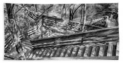 Beach Towel featuring the photograph The Winding Stairs by Howard Salmon